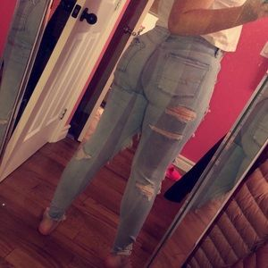 American Eagle Outfitters Jeans - American Eagle Super Distressed Jeans
